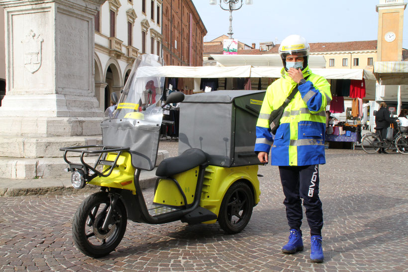 Poste italiane, mezzi elettrici Rovigo