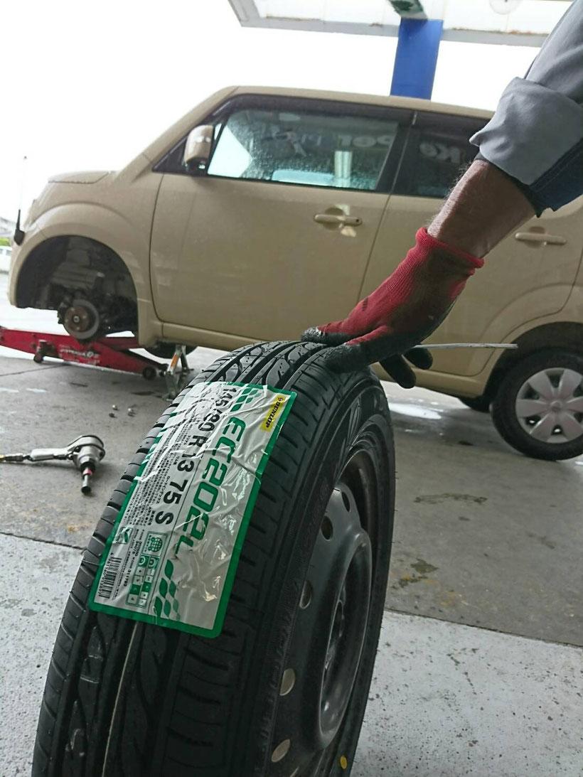サイズ モコ タイヤ