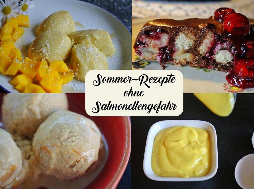 Salmonellenfreie Sommer-Rezepte mit und ohne Ei oder mit Ei-Ersatz - herzhaft und süß