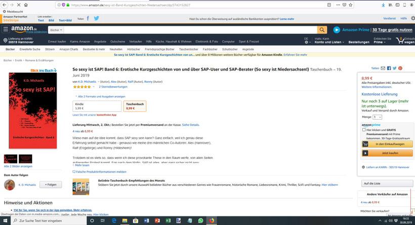 Buch: So sexy ist SAP! Band 6 von K.D. Michaelis bei Amazon