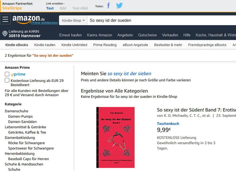 Amazon-Suchergebnis Buch nur mit Umlaut