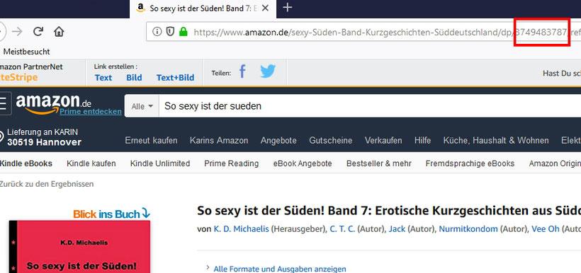 Amazon Buch-Nummer als Teil der URL
