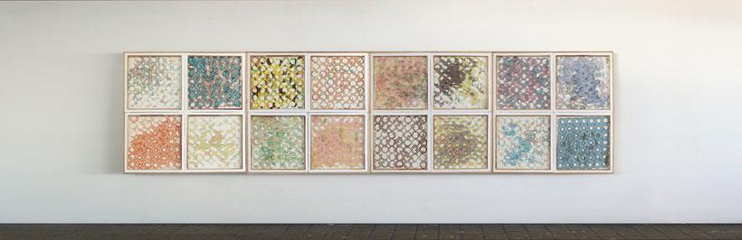 """Un ensemble de la série """"Aspirations d'eau Part. I"""", dim. 120 cm x 480 cm, 2014"""