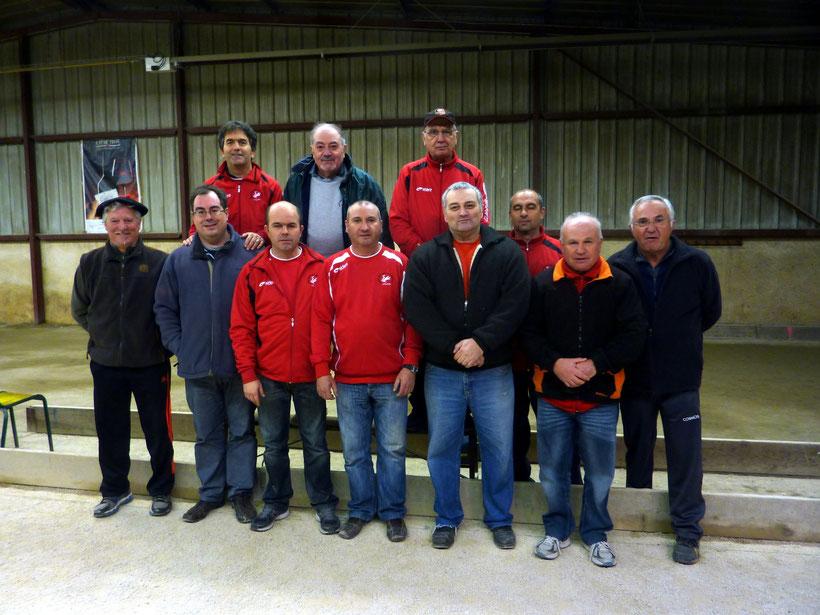 Les joueurs de l'équipe de l'Union Bouliste Gaillacoise