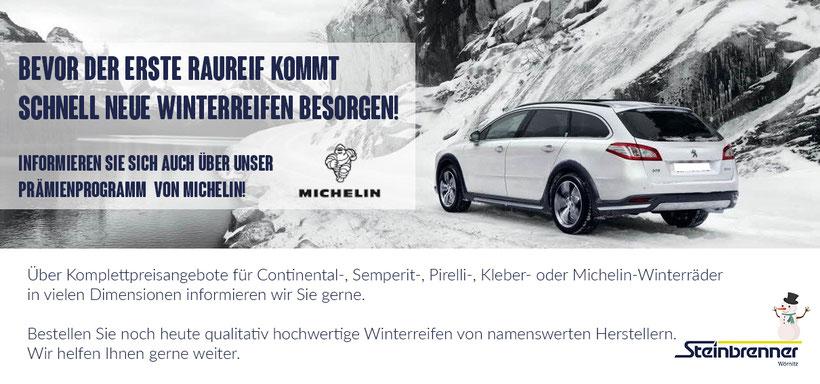 Reifen, Michelin, Reifenaktion, Winterreifen, Reifenwechsel, Winter, Auto, Peugeot, Prämie, Geld