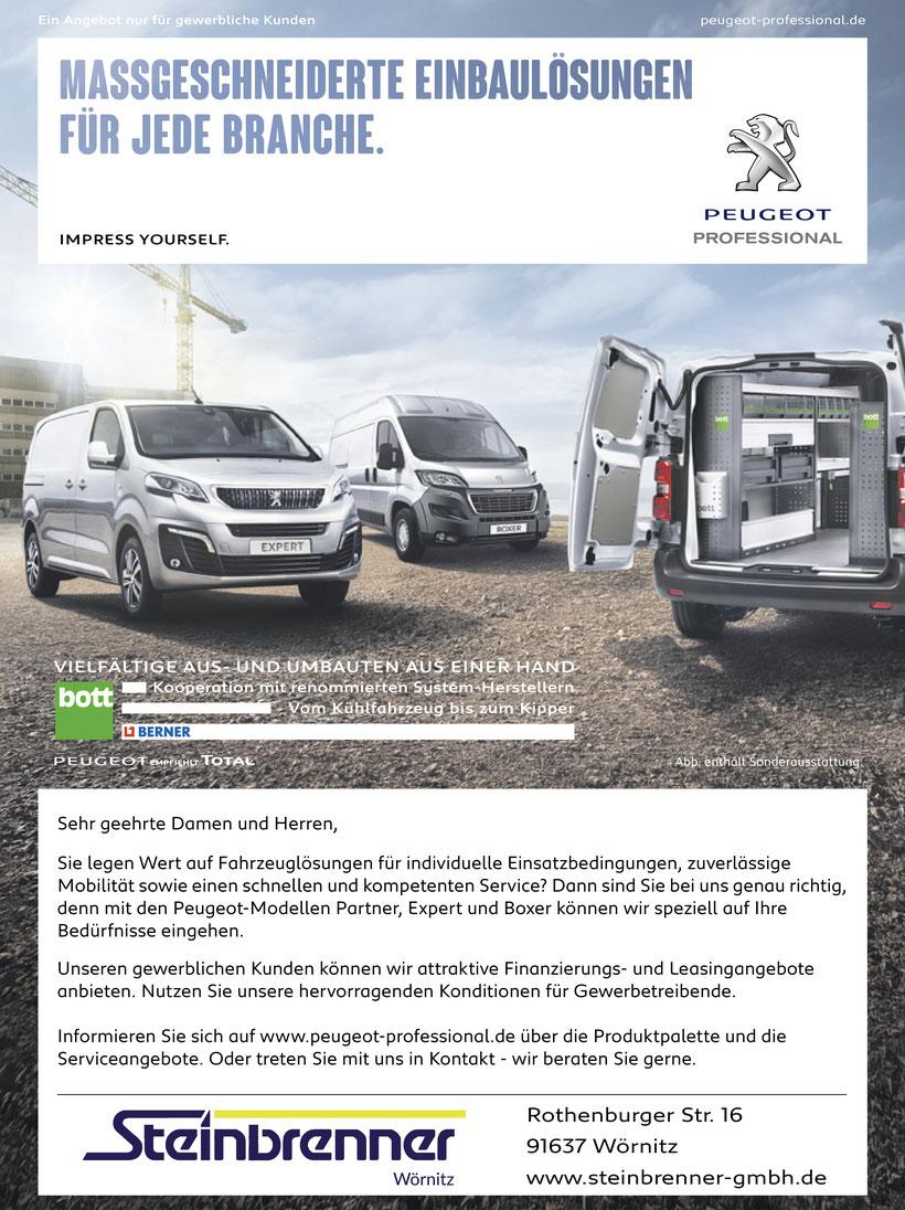 Gewerbekunden; Peugeot; Professional; Peugeot Partner; Peugeot Expert; Peugeot Boxer; Gewerbekundennachlass; Konditionen