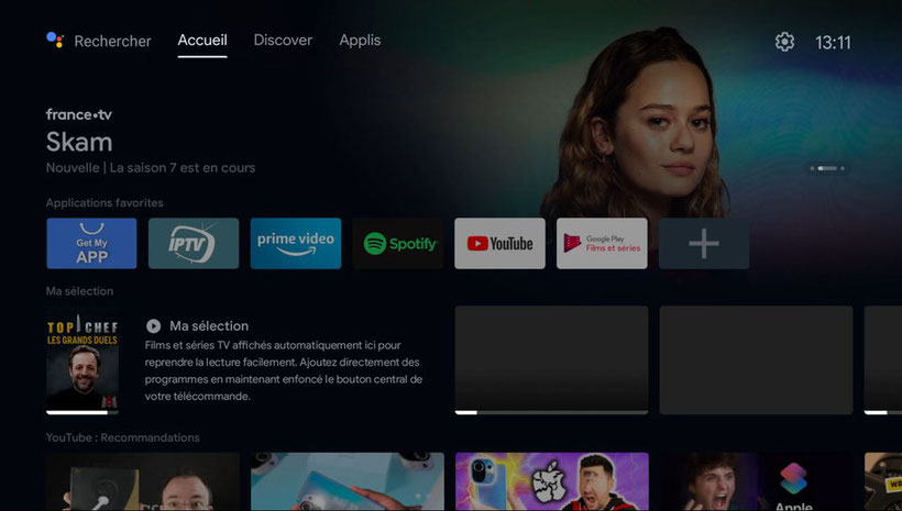nouvelle interface android tv