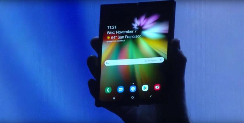 Samsung Infinity Flex display pliable