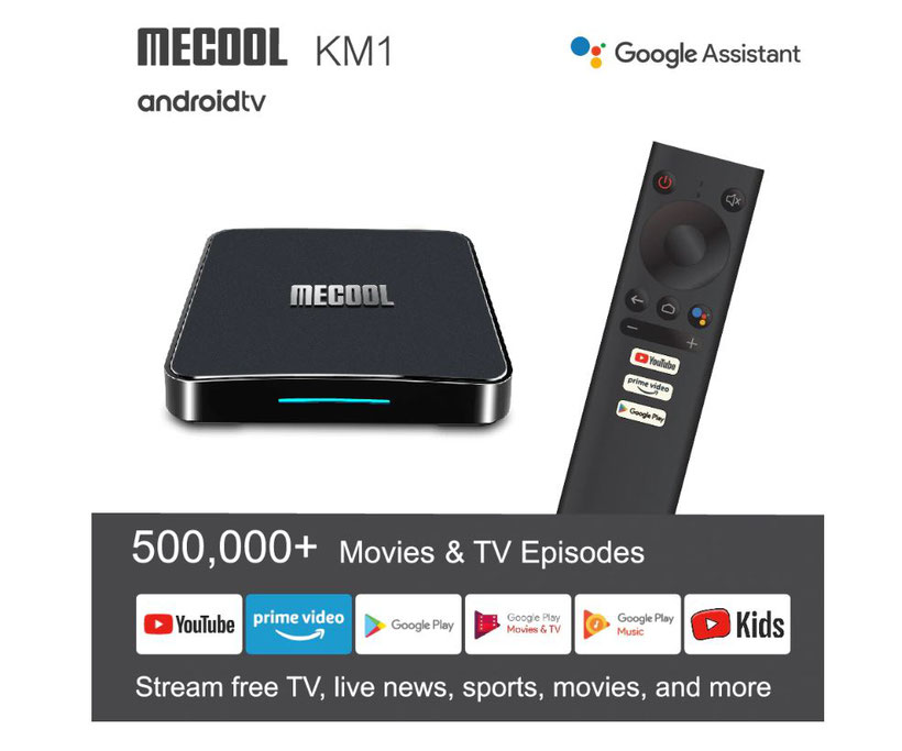 Mecool KM1 Applications Google assistant