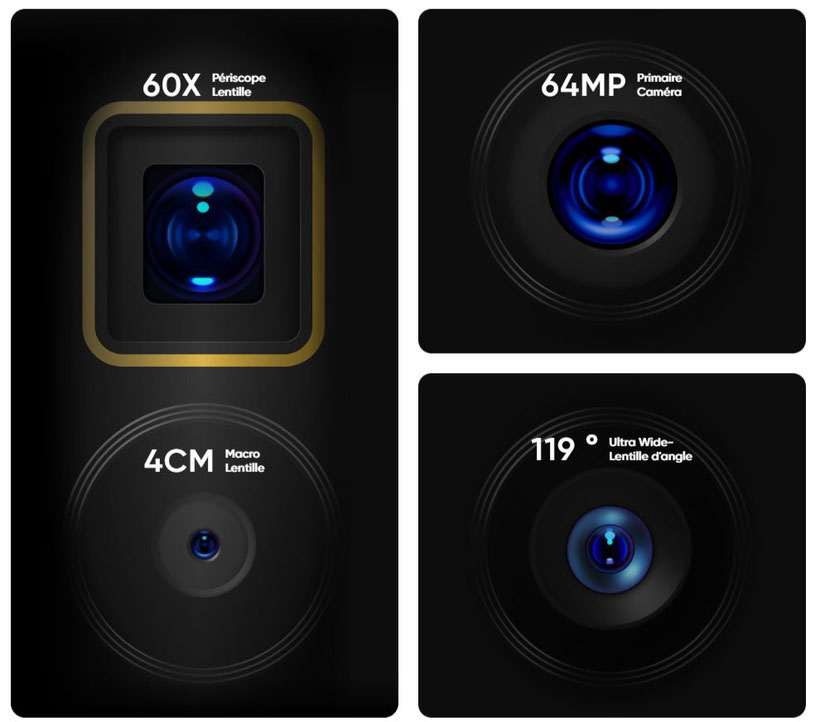 Realme X3 SuperZoom cameras zoom x60