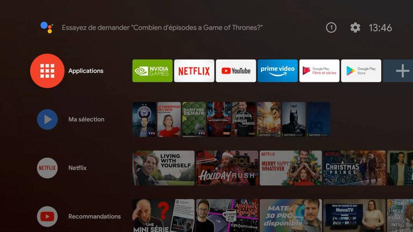 Nvidia Shield TV 2019 Interface