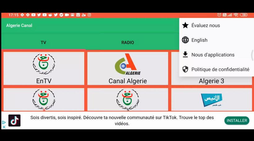 Algérie Canal application IPTV