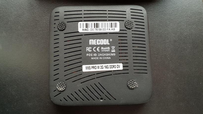 Dessous de la Mecool M8S Pro W