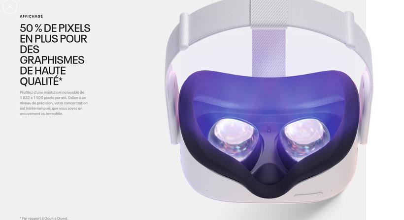 Oculus quest 2 50% de pixels