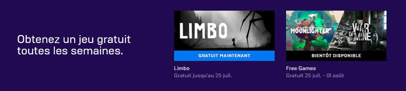 Limbo - EpicGames Jeu gratuit