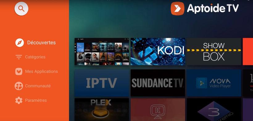 Aptoide TV interface