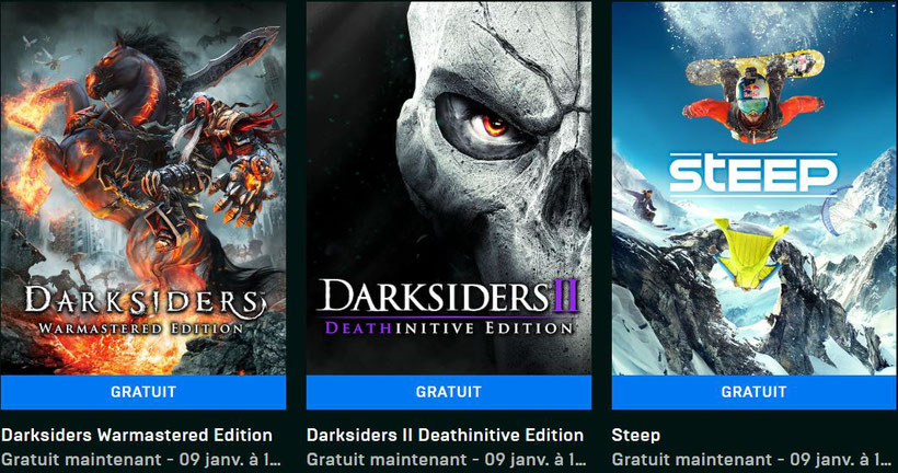 Darksiders Warmastered Edition Darksiders II Deathinitive Edition STEEP Gratuits Epic Games Store