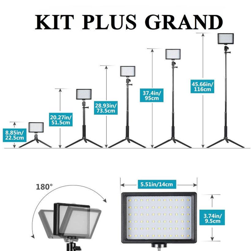 Neewer kit USB LED grande taille