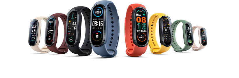 Xiaomi Mi Smart Band 6 coloris