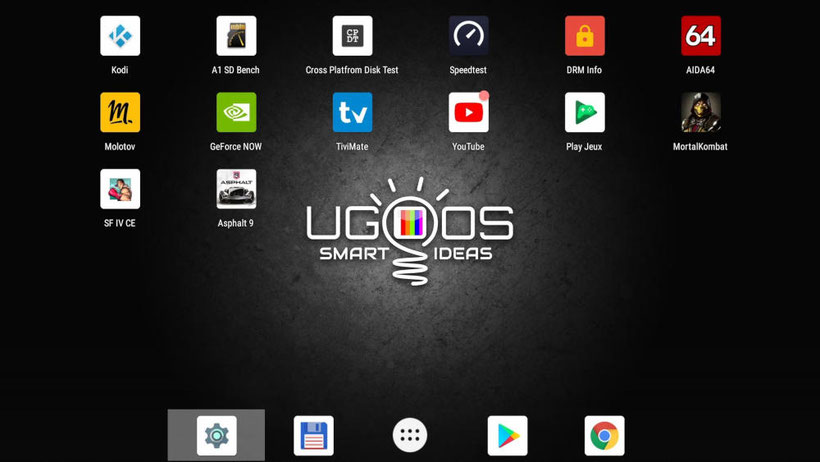 Ugoos AM6 Plus launcher 3 interface