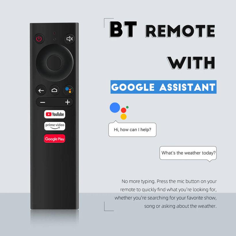 Mecool KM1 box Android TV télécommande