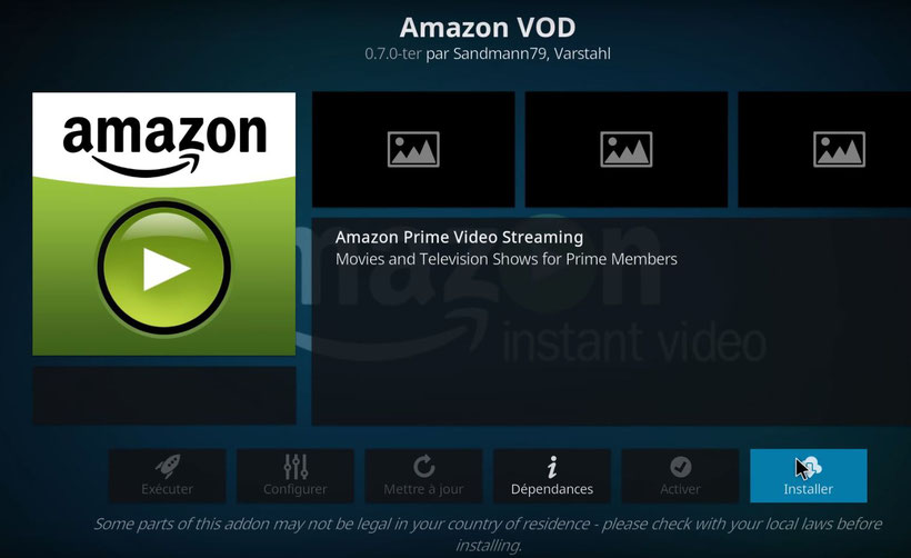 Kodi Amazon Prime Video VOD Addon Sandmann79