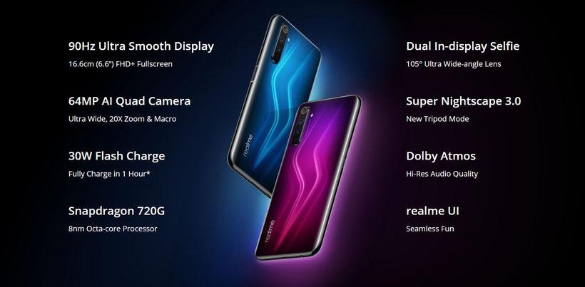 Realme 6 Pro caractéristiques