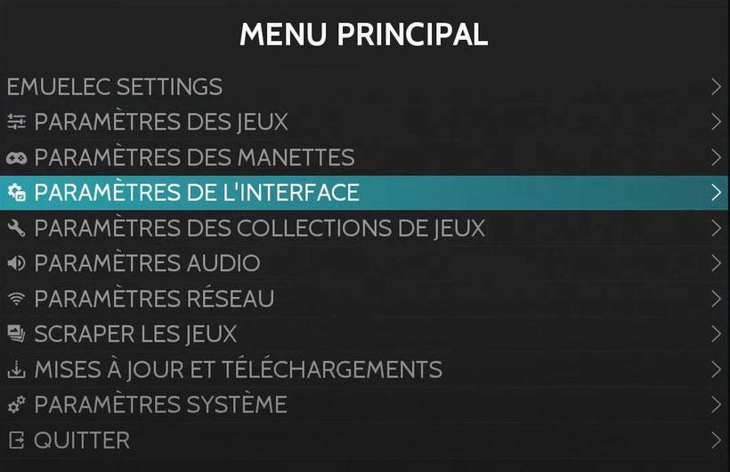 EmuELEC menu principal