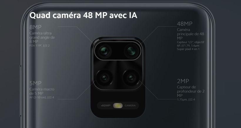 Redmi Note 9S Xiaomi capteurs photo