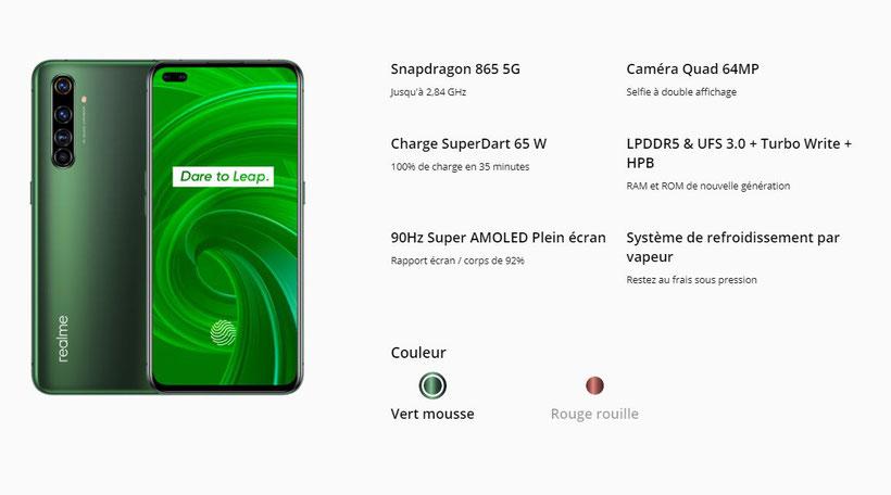 Realme X50 Pro 5G (caractéristiques3)