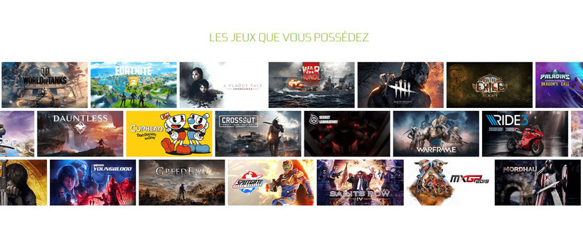 GeForce Now jeux compatibles