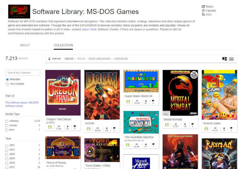 Internet Archive MS-DOS