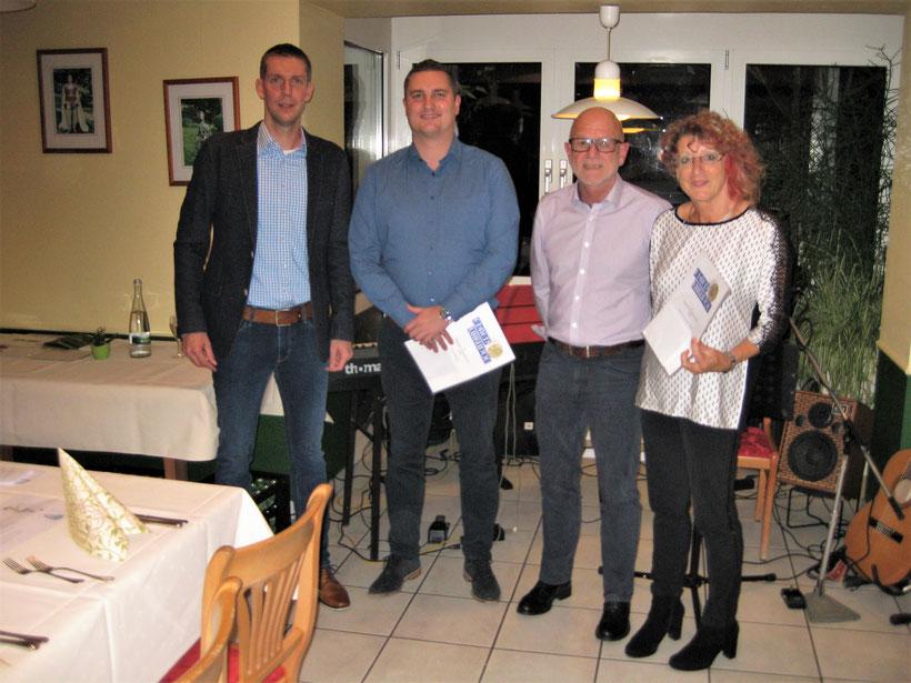 Bereits 40 Jahre halten dem ÖTC die Treue: Silvia Hug und Hans Hornung.   Von links nach rechts:    Sven Becker,  Toni Hoffarth,  Hubert und Gabi Eppler