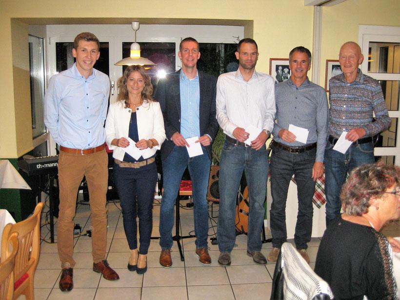 Von links nach rechts:  Dennis Fettig, Nathalie Unterstab, Sven Becker, Ralf Unser,Martin Weber und Siggi Nold