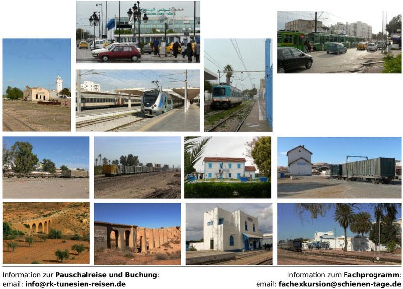 Überblick der Reiseziele vom Ballungsraum Tunis bis zum dünn besiedelten Süden
