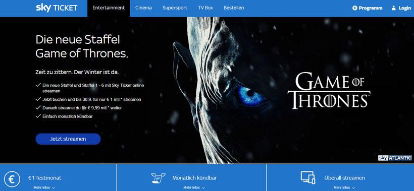 CheckEinfach | Sky Ticket für 1 Euro
