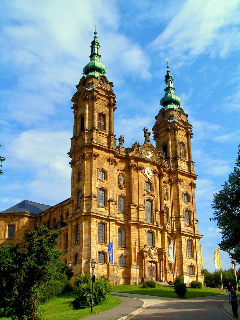 Vierzehnheiligen die Wallfahrtskirche in Oberfranken nach Plänen von Balthasar Neumann gebaute Gotteshaus ist den heiligen Vierzehn Nothelfern geweiht