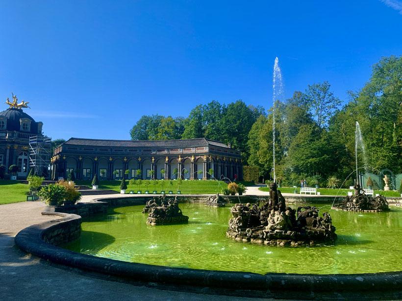 Eremitage Bayreuth mit Springbrunnen und Wasserspielen