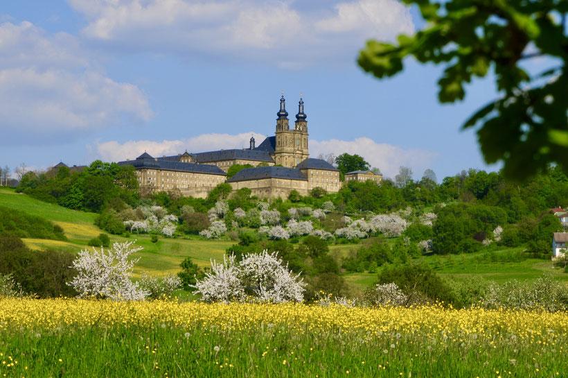 Kloster Banz wunderschön hoch über dem Maintal gelegen