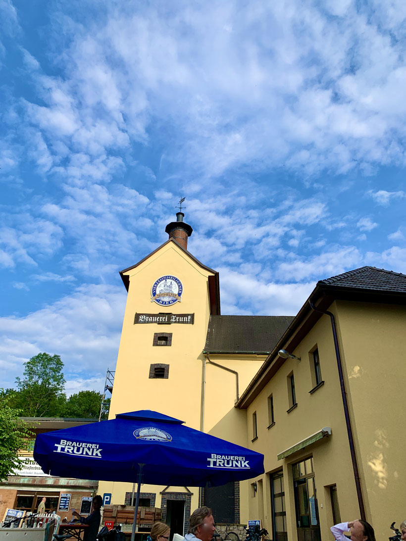 die Klosterbrauerei Trunk mit dem schönen Biergarten liegt direkt angrenzend an Vierzehnheiligen
