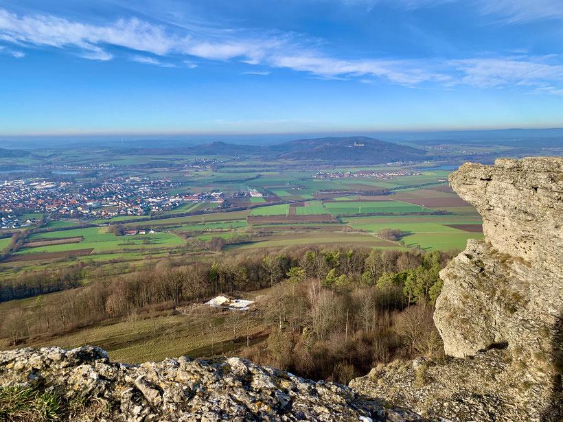 spektakulärer Ausblick vom Hochplateau des Staffelberges