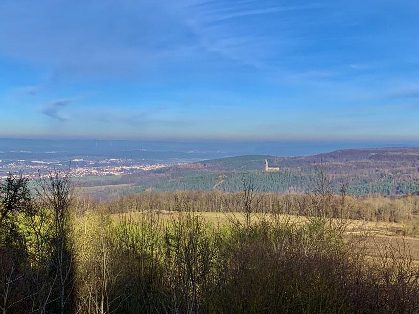 Blick vom Staffelberg auf Vierzehnheiligen