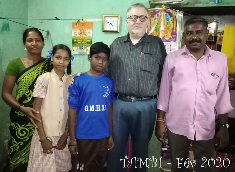 Février 2020 - Gokul et sa famille