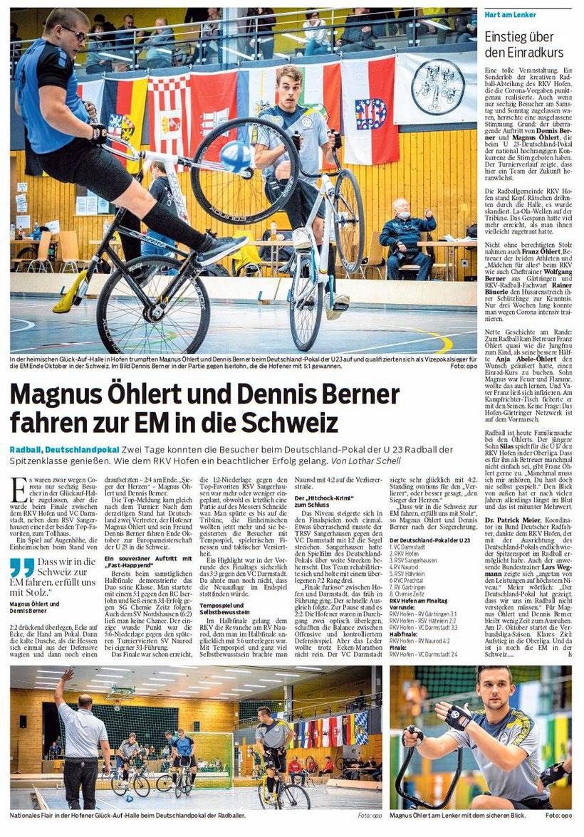 Bericht aus der Schwäbischen Post vom 12.10.2020