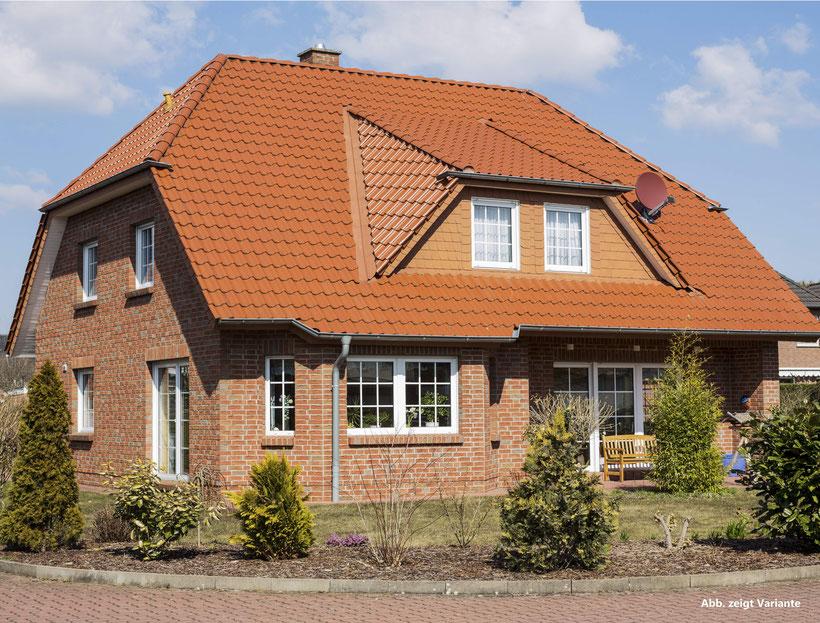 Landhaus Celle, Friesenhaus bauen, Einfamilienhaus mit Erker