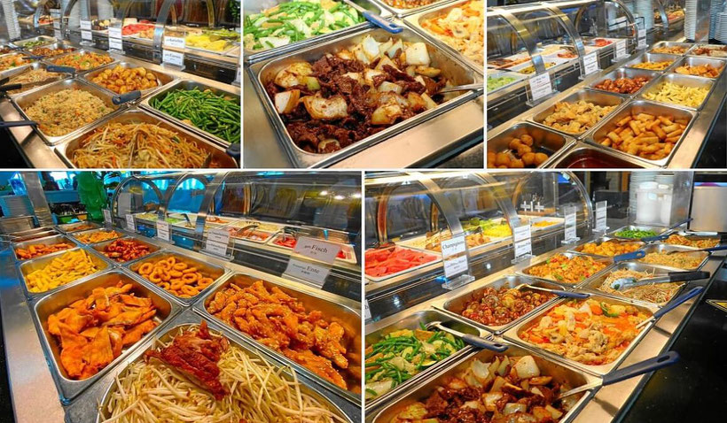 Chinesisches Buffet All-you-can-eat