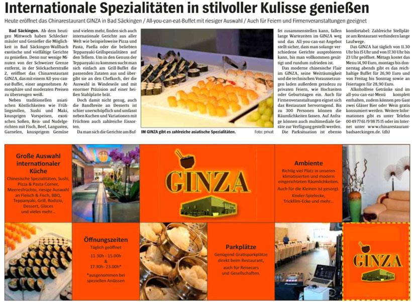 Wochenblatt Hochrhein 16. August 2017