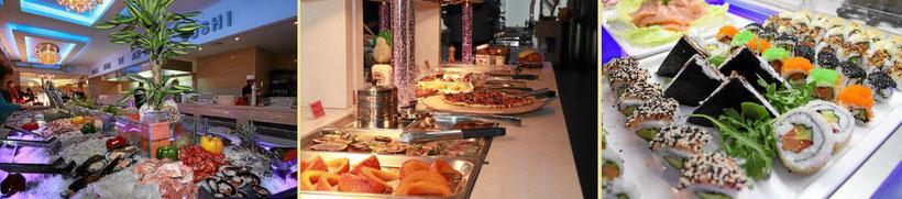 Buffet All-you-can-eat im Chinarestaurant Ginza in Bad Säckingen