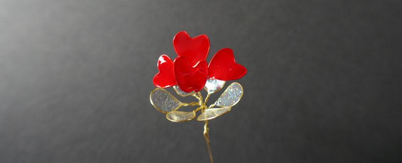 fleur de l'amour en vernis : Univers Emylila