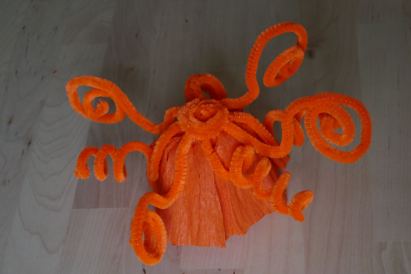 centre de table orange automne : univers emylila